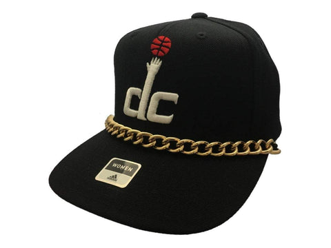 Shop Washington Wizards Adidas WOMENS Black Gold Chain Snapback Flat Bill Hat Cap - Sporting Up