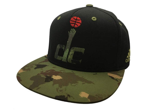 Washington Wizards Adidas Black Camo Structured Adj Snapback Flat Bill Hat Cap