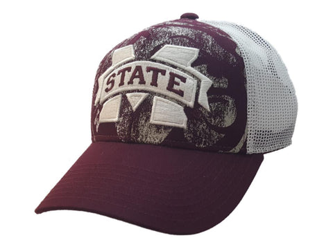 Mississippi State Bulldogs Adidas Structured Mesh Strapback Baseball Hat Cap
