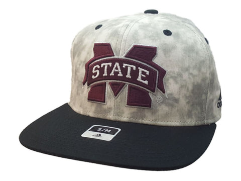 Mississippi State Bulldogs Adidas FitMax 70 Tie-Dye Style Flat Bill Hat Cap(S/M)