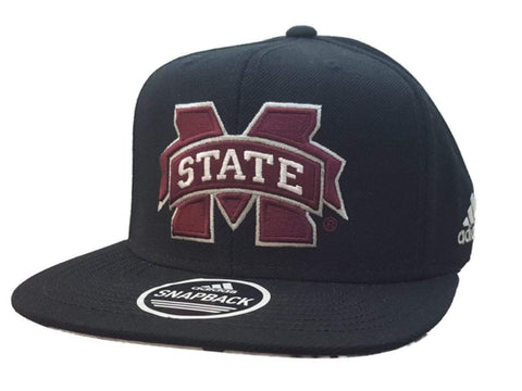 Shop Mississippi State Bulldogs Adidas Black Adjustable Snapback Flat Bill Hat Cap