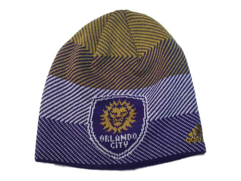 Orlando City SC Adidas Patterned Team Color Acrylic Knit Skull Beanie Hat Cap