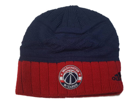 Washington Wizards Adidas Red and Blue Acrylic Knit Skull Beanie Hat Cap