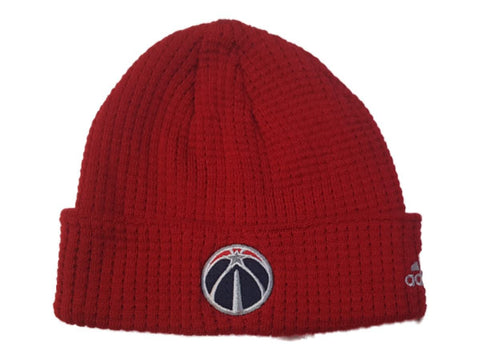 Washington Wizards Adidas YOUTH Red Acrylic Knit Cuffed Skull Beanie Hat Cap - Sporting Up