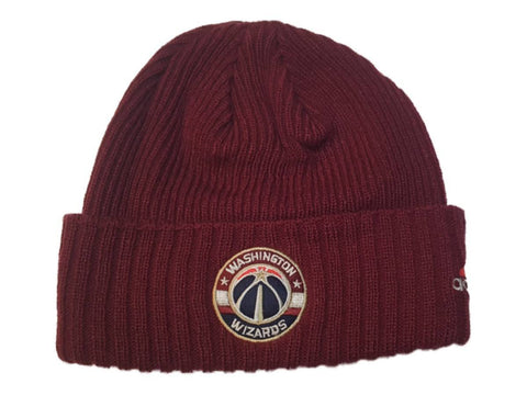 Washington Wizards Adidas Maroon Acrylic Knit Cuffed Skull Beanie Hat Cap