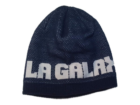 Los Angeles Galaxy Adidas WOMENS Navy Acrylic Knit Skull Beanie Hat Cap