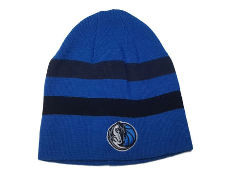 Dallas Mavericks Men's Blue Striped Acrylic Knit Uncuffed Skull Beanie Hat Cap
