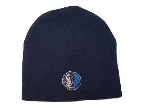 Shop Dallas Mavericks Men's Navy Blue Acrylic Knit Uncuffed Skull Beanie Hat Cap