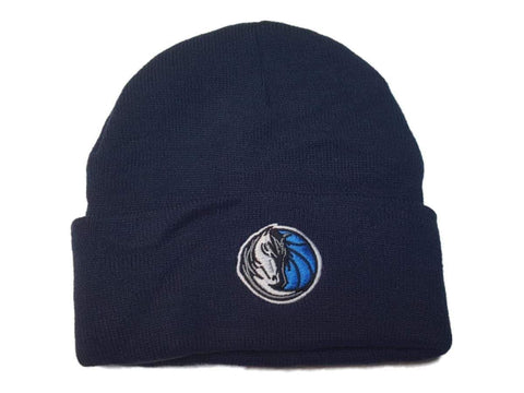 Dallas Mavericks Men's Embroidered Navy Acrylic Knit Cuffed Skull Beanie Hat Cap