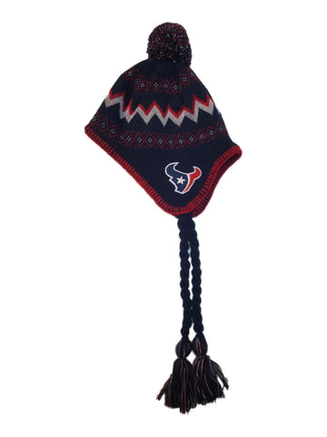 Shop Houston Texans Reebok TODDLER Team Color Patterned Beanie Hat Cap with Poof - Sporting Up