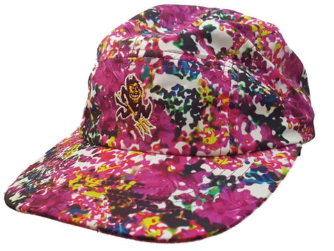 Arizona State Sun Devils Adidas Climalite WOMENS Pink Floral Adj Panel Hat Cap