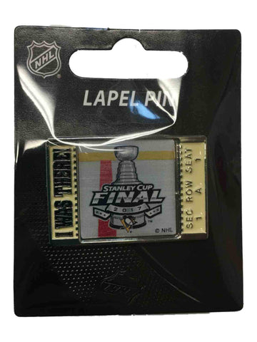 "Shop Pittsburgh Penguins 2017 Stanley Cup Final Aminco ""I Was There!"" Metal Lapel Pin"