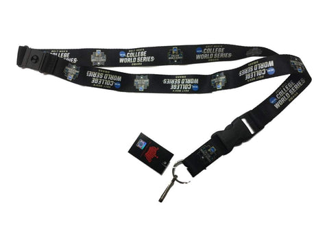 2017 CWS Men's College World Series Omaha Aminco Black Durable Buckle Lanyard