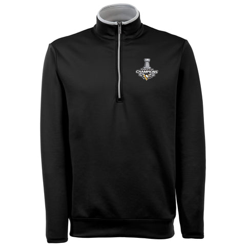Shop Pittsburgh Penguins Antigua 2017 Stanley Cup Champions 1/4 Zip Black Pullover - Sporting Up