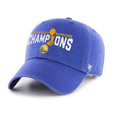 Golden State Warriors 47 Brand 2017  Finals Champions Trophy Adj Hat Cap