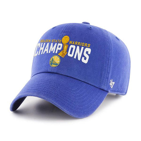 Golden State Warriors 47 Brand 2017 NBA Finals Champions Trophy Adj Hat Cap