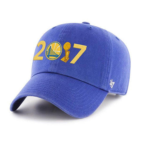 "Golden State Warriors 47 Brand 2017 NBA Finals Champions ""2017"" Trophy Hat Cap"