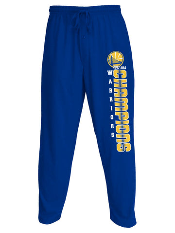 Shop Golden State Warriors 2017 NBA Finals Champions Knit Drawstring Lounge Pants - Sporting Up