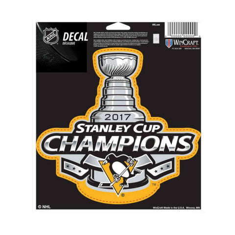 Pittsburgh Penguins 2017 Stanley Cup Champions WinCraft Vinyl Die Cut Decal