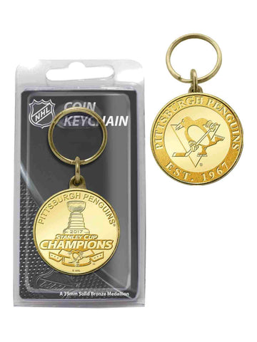 Shop Pittsburgh Penguins 2017 Stanley Cup Champions Bronze Mint Coin Keychain