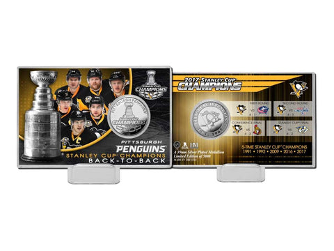 Shop Pittsburgh Penguins 2017 Stanley Cup Champions Highland Mint Silver Coin Card