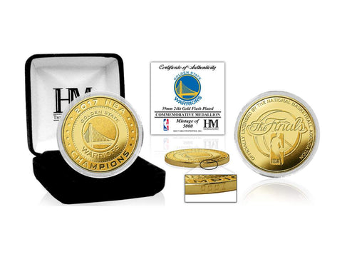 Shop Golden State Warriors 2017 NBA Finals Champions Highland Mint Gold Mint Coin