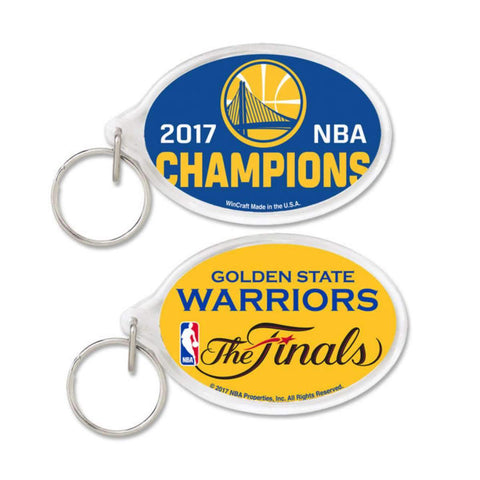 Golden State Warriors 2017  Finals Champions WinCraft Acrylic Keychain
