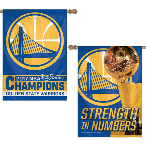 Golden State Warriors 2017 NBA Finals Champions WinCraft 2-Sided Banner Flag