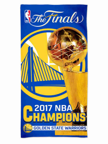 Shop Golden State Warriors 2017 NBA Finals Champions WinCraft Spectra Beach Towel