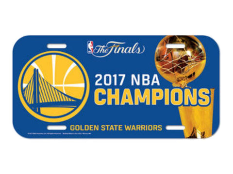 Shop Golden State Warriors 2017  Finals Champions Plastic License Plate Cover