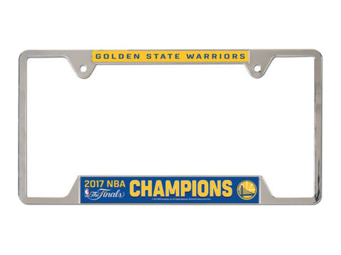 Golden State Warriors 2017  Finals Champions Metal License Plate Frame