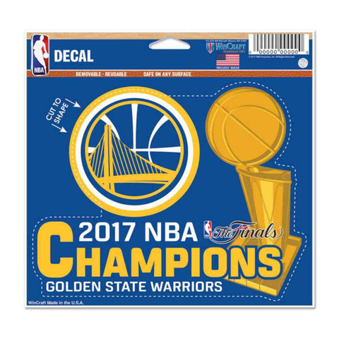 Golden State Warriors 2017  Finals Champions Multi-Use Cut to Logo Decal