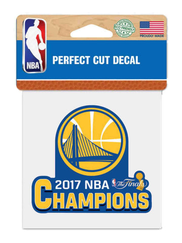 "Shop Golden State Warriors 2017  Finals Champions Perfect Cut Decal (4""x4"") - Sporting Up"