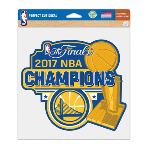 "Golden State Warriors 2017 NBA Finals Champions Large Perfect Cut Decal (8""x8"")"