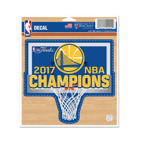 Shop Golden State Warriors 2017  Finals Champions WinCraft Vinyl Die Cut Decal - Sporting Up
