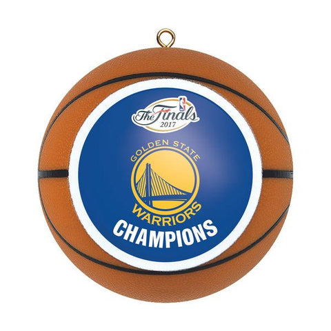 Shop Golden State Warriors 2017 NBA Champions Replica Basketball Christmas Ornament