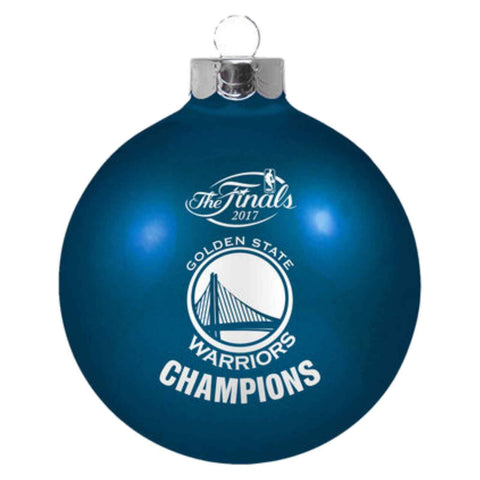 Shop Golden State Warriors 2017 NBA Champions Glass Blue Christmas Tree Ornament