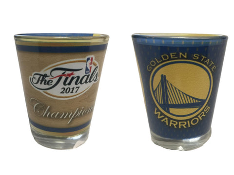 Shop Golden State Warriors 2017  Finals Champions Sublimated 2 oz Shot Glass - Sporting Up
