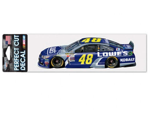 "Shop Jimmie Johnson #48 WinCraft Lowes Racing Perfect Cut Racing Car Decal (3"" x 10"")"