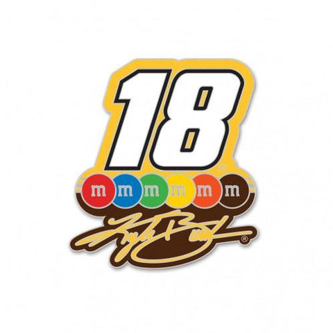 "Shop Kyle Busch #18 WinCraft M&M Racing ""18"" Yellow Collectible Jewelry Lapel Pin - Sporting Up"