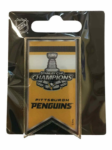 Shop Pittsburgh Penguins 2017 Stanley Cup Champions Aminco Banner Metal Lapel Pin