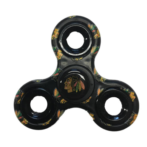 Shop Chicago Blackhawks NHL Black Multi-Logo Three Way Diztracto Fidget Hand Spinner