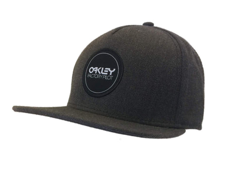 Shop Oakley Gray Factory Pilot Collection Structured Adj. Strapback Flat Bill Hat Cap