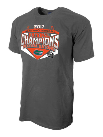 Florida Gators 2017 NCAA Men's College World Series CWS Champions Gray T-Shirt