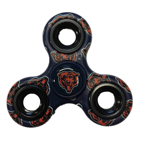 Chicago Bears NFL Navy Multi-Logo Three Way Diztracto Fidget Hand Spinner - Sporting Up