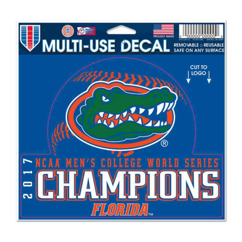 Florida Gators 2017 NCAA College World Series CWS Champions Multi-Use Decal