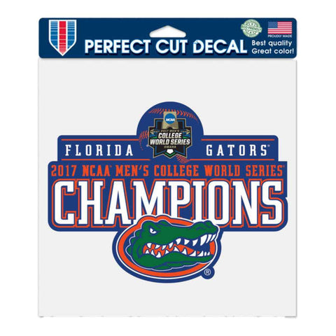 "Florida Gators 2017 NCAA College World Series Champs Perfect Cut Decal (8""x8"")"