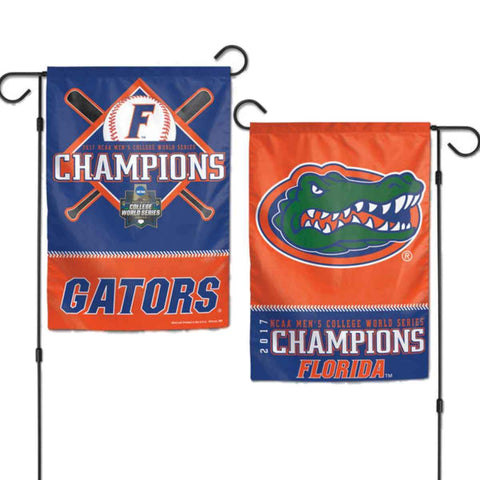 Florida Gators 2017 NCAA College World Series CWS Champions 2-Sided Garden Flag