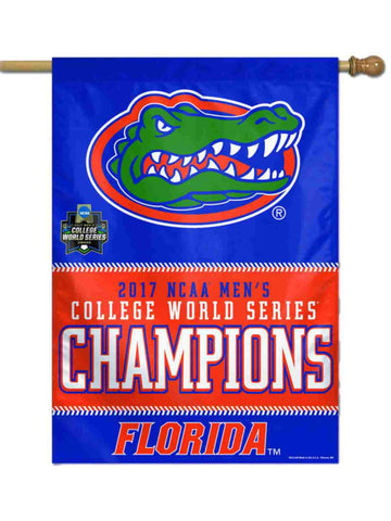Florida Gators 2017 NCAA College World Series CWS Champions Vertical Banner Flag