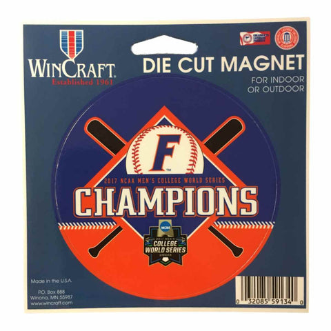Shop Florida Gators 2017 NCAA College World Series CWS Champions Die Cut Magnet